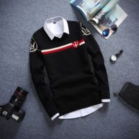 Wholesale The New Youth Men v neck Sweater Coat Maserati Logo Sets Of Head Of Mens Clothing Of Cultivate Ones Morality Leisure Knit
