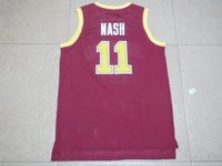 Wholesale 2016 New Arrival Steve Nash University Jersey good Quality Men s Red Jerseys Size S XXL mixed orders