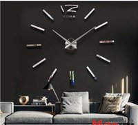 antique metal wall mirror - 2016 new arrival d home decor quartz diy wall clock clocks horloge watch living room metal Acrylic mirror Wall Clocks HY1232