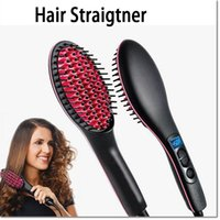 Wholesale top quality hair strait tool brush comb Hair Straightener Automatic Hair Straightener Comb With LCD TC Straightening Irons Genuine