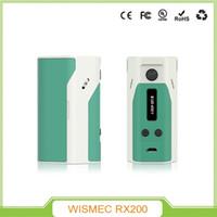 Wholesale Cigarettes Vape Mods Original Wismec Rx200 Releaux w e Cigs Temperature Control TC Box Mods Wismec RX VS Joyetech Cuboid