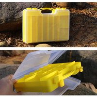 Wholesale 29 cm Double Sided Strong Fishing Box Visible Plastic Lure Boxes Movable Interlayer Handle Fishing Tackle Box