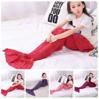 bar bags - Little Mermaid Tail Blankets Mermaid Blankets Hand Crocheted Mermaid Costume Mermaid Bedding Super Soft Nap Mermaid Sleeping Bag B2