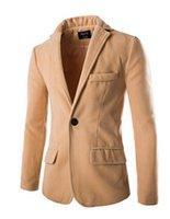 Wholesale Fall new autumn winter casual woolen single breasted coats fashion men s keep warm long sleeve Wool jackets