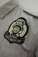 Wholesale Spot silver imported handmade embroidery badge cloth BALMAIN retro Badge Medal CM