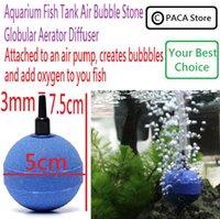 Wholesale Aquarium Fish Tank Air Bubble Stone Globular Aerator Diffuser help put the air pump to pump oxygen into the water