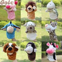 animals zoo games - Animal Plush Hand Puppet Set Infant Educational Games Multifunctional Zoo Animal Party Baby Educational Toy Play Kids Free Games