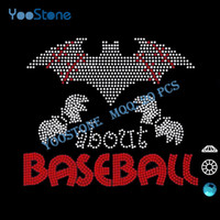 best metal for heat transfer - Best Selling Products Rhinestone Motif Bats About Baseball Rhinestone Heat Transfer Designs For Decorate Clothing