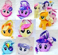 applejack pony toy - My little pony Plush Toy Rainbow Dash Rarity Twilight Sparkle Applejack Fluttershy Pinkie Pie w Pet Carrier PLUSH Hand Bag