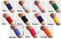 basketball wrist support - 2016 New Wrist support Unisex Cotton sports Sweat Band Sweatband Wristband Arm Basketball Tennis Gym Yoga running Wrist Support mix order