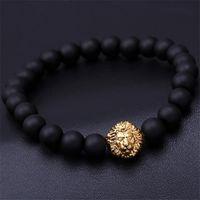 Wholesale Bead bracelet buddha bracelet pulseiras masculinas natural stone lion bracelet men pulseras hombre bracciali uomo mens bracelets
