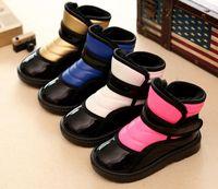 Wholesale Spring Autumn European Children Boots Girl Boy PU Leather Shoes Kids Boots Shoes Chaussure Enfant