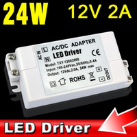 Wholesale 100V V to V A W LED Driver AC DC Adapter Converter Power Supply Watt Lighting Transformer for LED Strip V V