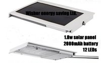 Wholesale New smart home lighting solar wall light with leds mAh battery for square meters lighting long using time