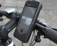 Wholesale Waterproof Bike holder Bicycle Handlebar Mount Holder Stand Case bag For iPhone S WY224