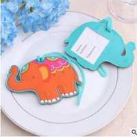 Wholesale Lucky Elephant Luggage Tag Wedding Favor Gifts Wedding Baby Shower Favor for Wedding Gifts Party Favors Supplies