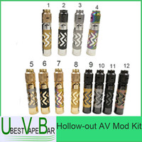 Wholesale Hollow out AV Mod Kit October New Mech Mod Rogue Mechanical Mod Pattern Min orders units