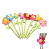 Wholesale Sunflower Curtain Buckle Cartoon Flower Flexible Curtain Hook Clips Window Curtain Tieback Holdback Holder Family Home Decorates