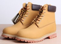 leather boots - timber new genuine leather men boots snow boot Martin boots leather boots man woman Outdoor waterproof shoes