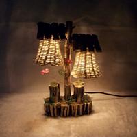 Wholesale AB retro retro wooden craft desk lamp creative home bed bedroom wedding decoration lamp