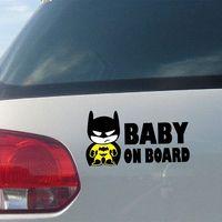 batman board - Baby Batman quot BABY ON BOARD quot Vinyl Car Decal Sticker reflective tape stickers Cheap tape n
