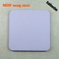 Wholesale Sublimation MDF Coffee Cup Mats White Blank Mug Materials for heat transfer white blank Round size x95mm