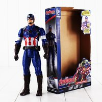 america good - 28cm Super Hero The Avengers Captain America PVC Action Figure Collectable Model toy for kids Christmas gift retail