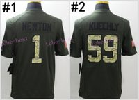 best service cans - Cam Newton Green Salute TO Service Elite Football Jerseys Best quality Authentic Jersey Embroidery Logo Size M XL Can Mix Order
