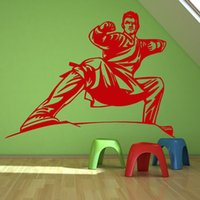 abstract colors - Vinyl Removable Home Decor Customized Colors Male Handsome Karate Stance Wall Sticker For Girls Room
