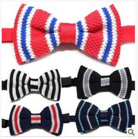 Wholesale DHL FREE styles High Quality Knitting Bowties men s ties men s bow ties color bowtie Formal Wedding Mix colors