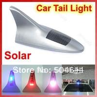 Wholesale Tinyinthebox TM Shark Fin Car Antenna Solar Power Anti tailgate Antenna with LED Alarm Flash Car Light
