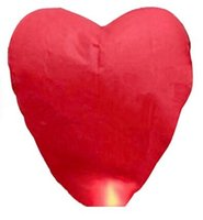 Cheap Red Heart Sky Lanterns Chinese Paper Sky lantern Candle Fire Balloons for Wedding   Anniversary   Party   Valentine