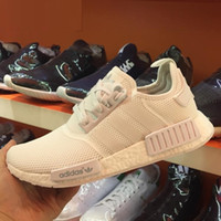 shoes sports shoes - Adidas Original NMD Runner Primeknit Discount Sales White Red Blue NMD Runner Sports Shoes Men Woman NMD Running Boost with Box
