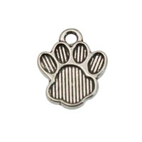 bear paw jewelry - Online Alloy Bear Paw Shape Charms Vintage Jewelry Making Charms AAC135