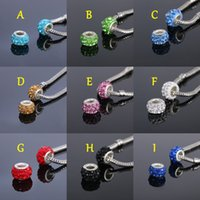 Wholesale High quality DIY jewelry accessories crystal diamond beads scattered beads macroporous polymer clay bead necklaces bracelets accessories