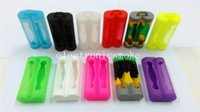 Wholesale DHL Free Colorful Double Battery Case Silicone Protective Cover Soft Rubber Skin Protector for Battery Sony VTC3 VTC4 VTC5