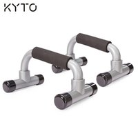 Wholesale KYTO pair Fitness Body Building Equipment Perfect Chest Bar Push Up Stand with Foam Handle Bar Push up Bar Fitness Equipment