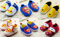 baby walking cartoon - Drop shipping Superman s children casual shoes cartoon baby toddler shoes boys girls walking shoes M infant floor shoes pairs C