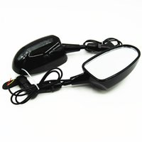 Wholesale Rear View Side Mirrors With LED Turn Signal Integrated Ninja ZX6R Carbon Fiber CBR Katana GSX600 GSX1300R YZF Hayabusa