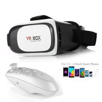 Wholesale VR BOX II Virtual Reality D Glasses Helmet Case Bluetooth Control for VR Video