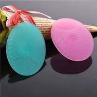 Wholesale Facial Exfoliating Brush Infant Baby Soft Silicone Wash Face Cleaning Pad Skin SPA Scrub Cleanser Tool