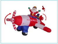 animated christmas ornaments - Christmas Gifts Christmas Animated Floating Santa Helicopter Airblown Inflatable Christmas Outdoor Decor Santa Helicopter