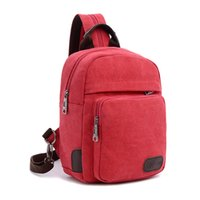 Wholesale Multifunctional Canvas Small Backpack Sling Bag Chest Pack Women Cute Travel Bag Rucksack Hiking Cycling Backpack