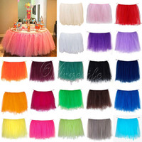 Wholesale 3Pcs cm x cm Tulle Tutu Table Skirt Tableware for Wedding Event Party Supplies Baby Shower Banquet Table Decoration Top quality