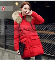 Wholesale Fashion Women s Parka Down Coat winter Hood Fur Collar Casual Female Long Thickening Jacket coat outwear Plus Size M249