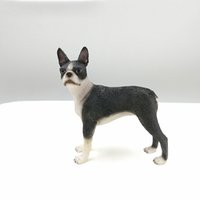 art discount store - Discount Sale Resin Craft Figurine Artificial Arts Boston Terrier Resin Crafts For Home Dog Store Decoration