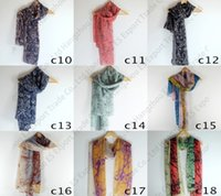 Wholesale Mix Colors Long Voile Scarves Fashion Pashmina Ladies Beach Towel x CM Soft Scarf Free Ship