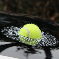 auto body adhesive - 3D Car Stickers Funny Auto Car Styling Ball Hits Car Body Window Sticker Self Adhesive Baseball Tennis Decal Accessories