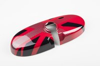 Wholesale Brand new ABS Plastic Sporty style UV Protected Red Color Car interior mirror for mini cooper Set