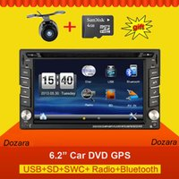 Wholesale 2din car dvd radio GPS Navigation Bluetooth DIN universal for x trail Qashqai juke for nissan Stereo Radio headunit USB SD